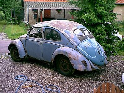 modified vw beetle vw t1 rusty